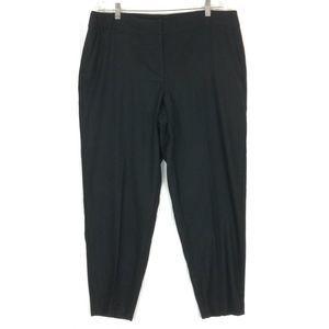 Eileen Fisher black wool pants